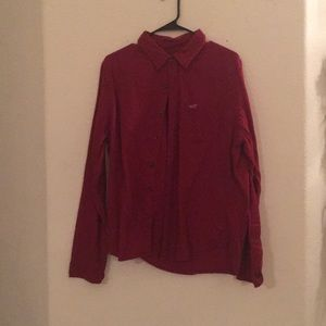Men's long sleeve hollister button shirt Large
